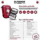Notfall Erste Hilfe Set mit Inhalt aus Deutschland nach DIN 13167 + Notfallbeatmungshilfe + Burnshield-Gel für Brandwunden - 4