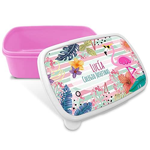 LolaPix Porta Alimentos Infantil. Regalos Personalizados. Caja merienda con Nombre. Apta para...