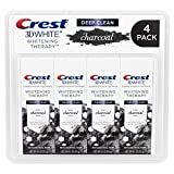 Crest Charcoal 3D White Toothpaste, Whitening Therapy Deep Clean with Fluoride, Invigorating Mint, 4.1 Ounce (Pack of 4)