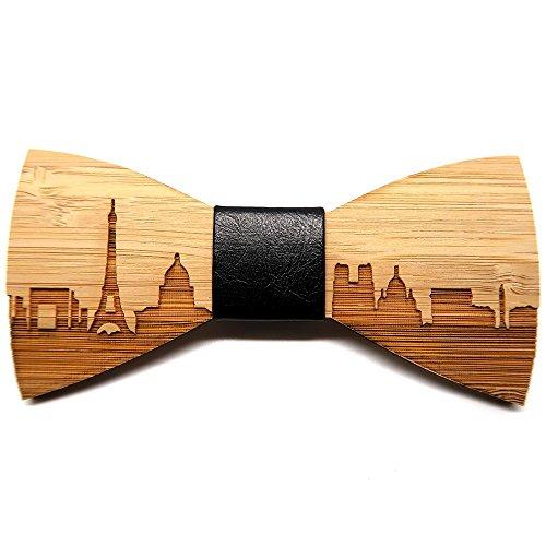 BOBIJOO Jewelry - Noeud Papillon Bois Bambou Homme Chic Naturel Décor Paris France Fait Main Cuir