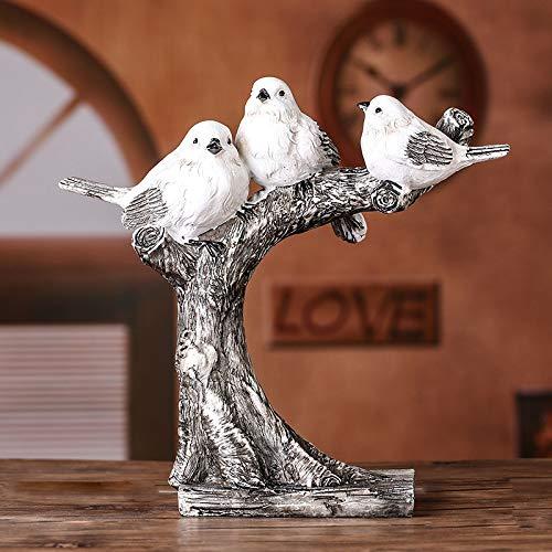 ZJMIQT beeldhouwbeeldje kleine sculptuur, hars kernfamilie Bird beeldje decoratieve vogel sculptuur huishouden ornament kunst handwerk voorhanden uitrusting accessoires