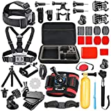 SmilePowo Kit de Accesorios para GoPro Hero8 MAX GoPro Hero 7 Black 6 5 Session 4 3, Crosstour, APEMAN, AKASO, SJCAM, Xiaomi YI Cámara de Acción