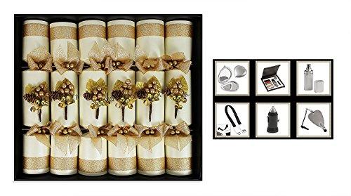 RSW doos van 6 handgemaakte kerst Crackers kwaliteit geschenken nieuwigheid hoed detail vakkundig gemaakt