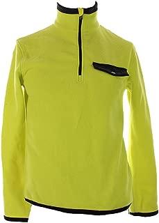 Polo Ralph Lauren Fleece Sweatshirt Small S Bright Yellow and Black Half-Zip