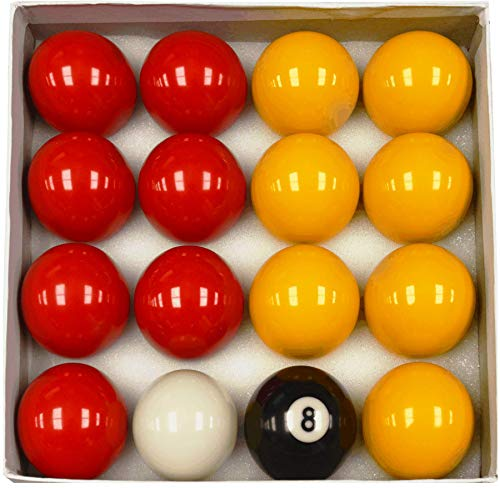Homegames Pool Table Balls Pub RED & YELLOW 2' UK Competition Set
