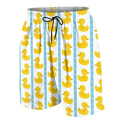 Popsastaresa Herren Beiläufig Boardshorts,Einfache süße Enten,Schnelltrocknend Badehose Strandkleidung Sportbekleidung mit Mesh-Futter