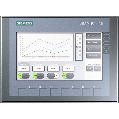 Siemens ST801–Panel Basic SIMATIC Metall Hartschale Integral KTP700TFT Display 17,8cm