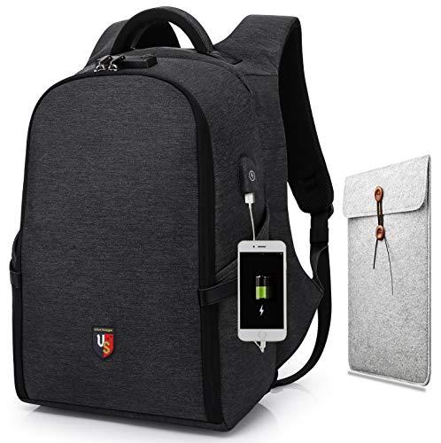 Anti-Diebstahl-Leichte Laptop-Rucksack mit USB-Ladeanschluss/Urban Swagger Rucksack für bis zu 15,6-Zoll-Laptops/Ideal für Pendler, Reisen und Geschäftsreisen Kostenlose Tablet-Abdeckung