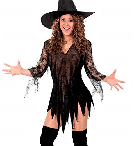 KarnevalsTeufel Damen-Kostüm Hexen Tunika, braun-schwarz, Witch, Zauberin, sexy Kleid, Halloween