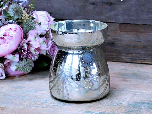 Chic Antique Vase ° Rokoko ° aus Bauernsilber Shabby Chic Silberglas antik