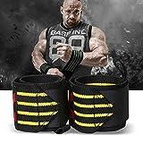 GymWar Weight Lifting Wrist Wrap (Pair) Thum Support/Wrist Support