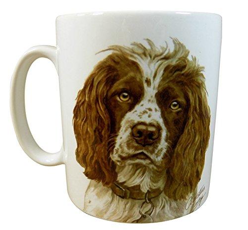 Waggy Dogz Springer Marron Chien Puppy fabriquée au Royaume-Uni Cadeau de qualité de Chine Mug Tasse Pot de fleurs
