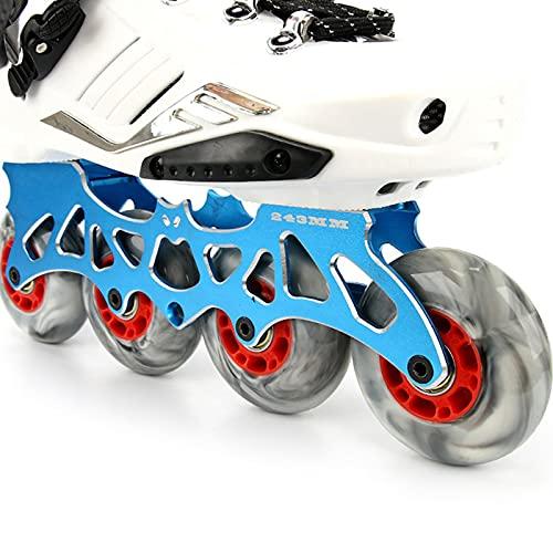 Paquete de 8 ruedas de patines en línea 85A Hockey Ruedas de repuesto 72 mm/76 mm/80 mm Patrón de mármol Patines en línea Ruedas Maleta Ruedas (76 mm)