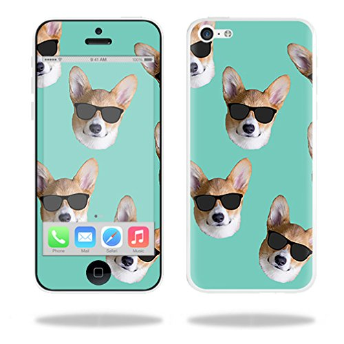 MightySkins Skin Compatible with Apple iPhone 5C – Cool Corgi | Protective, Durable, and Unique Vinyl Decal wrap Cover | Easy to Apply, Remove, and Change Styles | Made in The USA