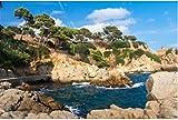 Rompecabezas para Adultos 1000 Piezas Vista del Paisaje sobre Rocas Y Agua De Mar Azul En Lloret De Mar Costa Brava Rompecabezas para Niño Amigo