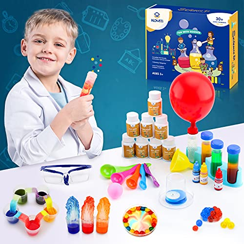 Science Kits with 30 Lab Experiments for Kids,DIY STEM Project Activities Toys Gifts for Kids Ages 3 4 5 6 7 8 9 10 11 Years Old Boys Girls,Educational Learning Toys & Birthday Gifts