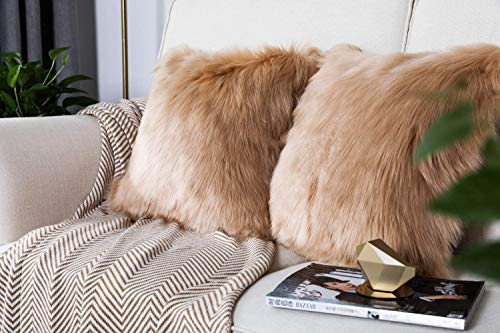 HETOOSHI Fodera per Cuscino in Lana Artificiale Fodera per Cuscino, Super Soft Fodera per Cuscino in Pelle Deluxe Home Decor Decorativo Camera da Letto Federa Divano
