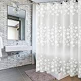 Wasserdicht Duschvorhang, 200 x 200 cm Antibakteriell Duschvorhang Badvorhänge Badvorhang Duschvorhänge Waschbar Shower Curtains mit 14 Duschvorhängeringen, für Dusche & Badewanne (3)