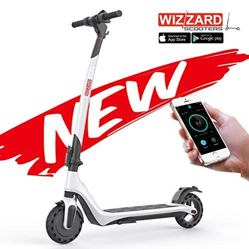 Wizzard EON City E Scooter Leistungsstarker Zusammenklappbarer Elektro Roller mit 25 Km/h - 12 Kg Gewicht (Weiß)
