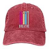XCNGG No Puedo Respirar Sombreros de Vaquero Unisex Sombrero de Mezclilla Deportivo Gorra de béisbol de Moda Negro