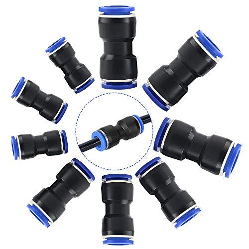 GOLRISEN 30 unidades Racores Neumáticos de 6/8/10mm, Empuje Recto en Conectores Neumáticos Rápido, Enchufes Neumática, Accesorios Neumáticos, para Conectar con Polietileno, el Nylon y el Tubo de la PU