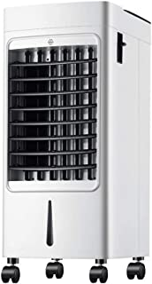 Qi Kang Evaporativo Portátil, Refrigeración 3 en 1 Portatil Climatizador 1-7h Temporizadores Aire Acondicionado Ventilador de Pie (5L) con 3 Velocidades-001 Estilo de Control Remoto