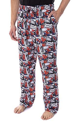 Marvel Men's Spiderman Web-Slinger Comic Book Print Looks Like A Job for Spider-Man Sleep Lounge Pajama Pants (Medium)