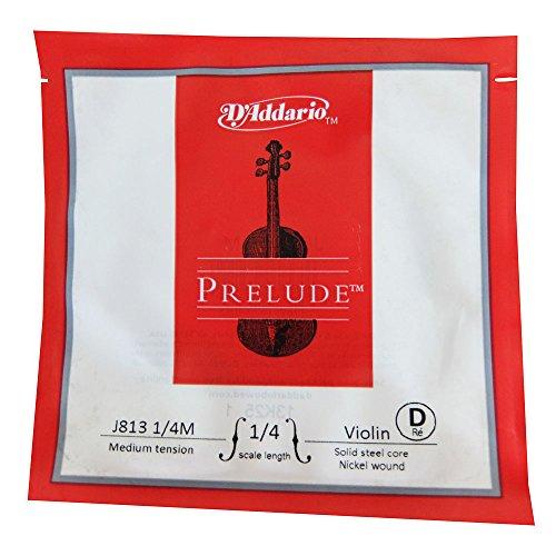 daddario violins D'Addario Prelude Violin Single D String, 1/4 Scale, Medium Tension