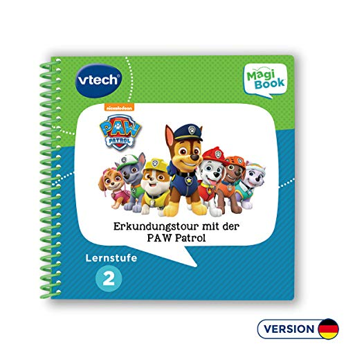 VTech 80-480204 Lernstufe 2 - Erkundungstour mit der PAW Patrol MagiBook Lernbücher, Mehrfarbig