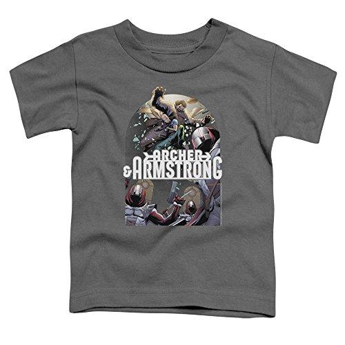 Archer & Armstrong - - Les tout-petits déposer dans T-shirt, 4T, Charcoal