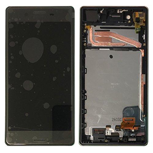Sony Display Full LCD Komplettset mit Rahmen Touchscreen Glas Scheibe Ersatzteil Zubehör Reparatur Schwarz für Xperia X F5121 F5122 Schwarz + Werkzeug Opening Tool