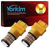 Yorkim Ultra Bright 3157 LED Bulb Amber, 3157 LED Brake Lights, 3157 LED Backup Reverse Lights, 3156 LED Tail...