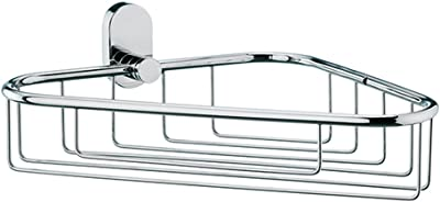 Kela ケラ 浴室用ラック ステンレス サイズ:9.5×28.5×22.5cm コーナー バスケット Lucido 22688