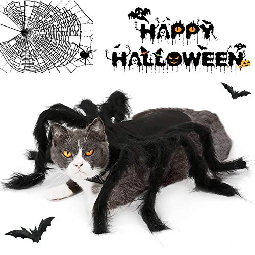 ZUOQUAN Ropa para Perros De Halloween, Disfraz De Gato De Halloween, Accesorio De Cosplay, Disfraz De Araña De Halloween, Disfraz,S