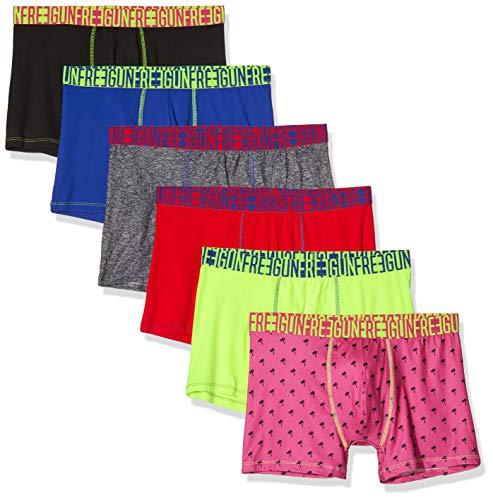 FREEGUN Herren Lot De 6 Boxer Microfibre Unterhose, Mehrfarbig (Multicolor G3), XX-Large (6er Pack)