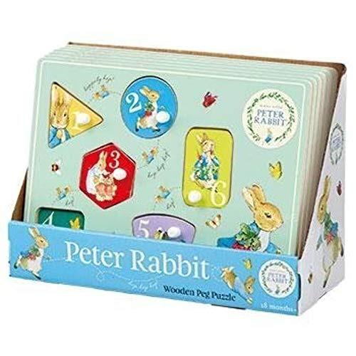 Peter rabbit Rainbow Designs PO1234 Puzzle en Bois avec Pinces à Linge