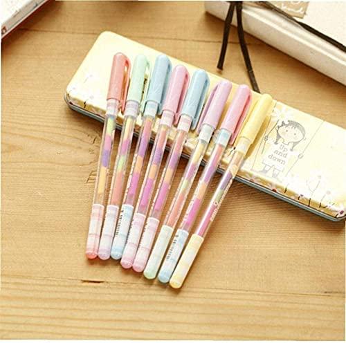 Ghlevo 4 unids Arco Iris Color de Agua Gel Gel Pluma Gouache Pastel Pluma para Pintar Dibujo Suministros Escolares Arte artesanía Regalo para niños