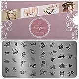 MoYou's XL Bridal 3 Stamping Schablone, Nail Art Stampling - Nagel Lack Stempel, Blumen und...