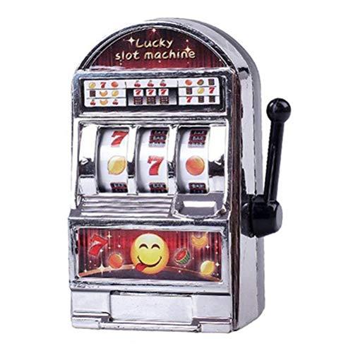 Mini juguete de la máquina tragamonedas, juguete de metal, mini máquina tragamonedas divertida, dinero afortunado, herramienta de entretenimiento, máquina tragamonedas grabada con el texto deseado