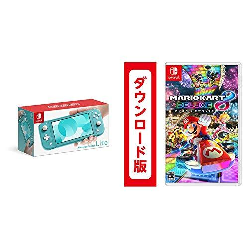 Nintendo(任天堂)『Switch Lite ターコイズ + マリオカート8 デラックス|オンラインコード版 セット』