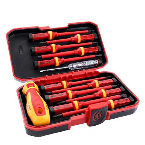IUwnHceE Isolierte Schraubendreher Elektriker 1000V Set Magnetic Tipps Austauschbare Repair Tools Kit Box 13PCS Praktisches Werkzeuge