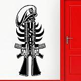 WERWN Pistola, Pegatina de Pared, Estilo, ejército, Arma Militar, Guerra, Vinilo, calcomanía de Pared, decoración del hogar, Cueva Masculina, Sala de Juegos