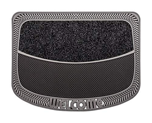 CarFashion Fußmatte Türmatte, TPE-VC 100% Nachhaltig, Anthrazit Metallic, 78 x 55 cm