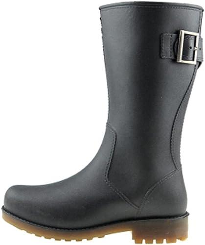 Belingeya Chaussures de Pluie pour Hommes l'eau de de de Fond en Caoutchouc Noir de High - Drum Hommes - Proof Labour Prougeection. Bottes de Neige pour Homme (Couleur   Noir, Taille   43 1 3 EU) 7b5
