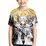 Camisetas Anime D.Gray-Man Adecuado para niños y niñas Camiseta de Manga Corta de Verano con Cuello Redondo Camisa Juvenil de Manga Corta