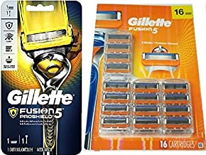 Gillette Men's Razor Blades - 17 Cartridge Refills Plus 1 Handle (Packaging May Vary)