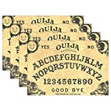 """HoDeColor Ouija Board Placemats Table Mat Set of 6, 12"""" x 18"""" Washable Table Place Mats for Kitchen Dining Room Table Decoration"""