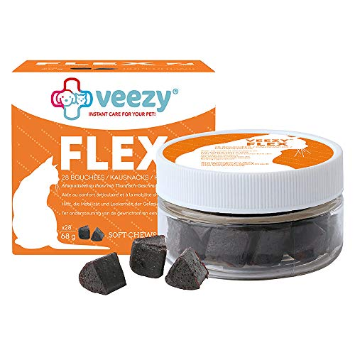 veezy Flex Kausnacks für Katzen - Schutz Gelenkknorpel, 1er Pack (28 Stück)