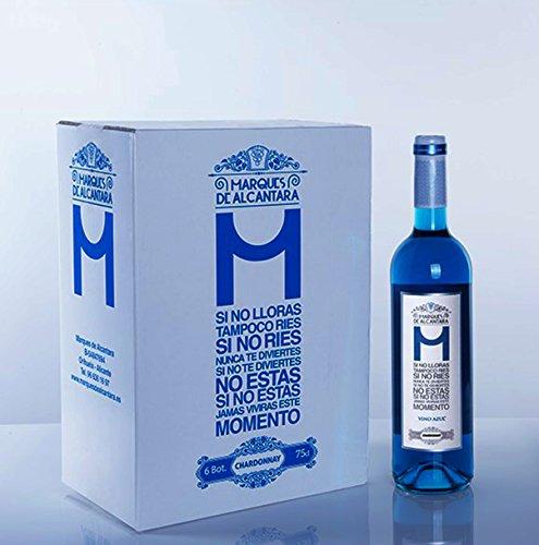 MDA Vino Azul Chardonnay - Vino Azul 100% Natural (1 Botella)