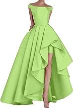 KevinsBridal Women's Off Shoulder Long Evening Prom Dress High Low Formal Gowns
